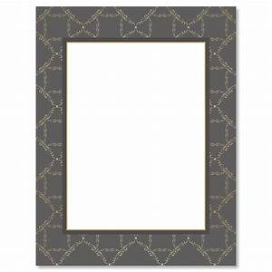 charcoal damask frame christmas letter papers current With letter paper frame
