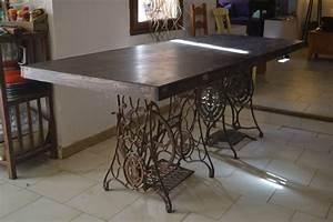 console valise outillage vintage industriel grande table With idee deco cuisine avec objet decoratif a suspendre
