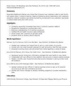 customer relationship manager resume objective professional relationship banker templates to showcase your talent myperfectresume