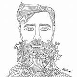 Coloring Pages Adult Beard Colouring Mandala Therapy Books Creative Colorfy Recolor Tomorrow Pretty Beards Doodle Don sketch template
