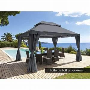 Toile De Rechange Pour Tonnelle 4x3 : toile de toit pour la tonnelle napoli 3 x 4 m ardoise ~ Melissatoandfro.com Idées de Décoration