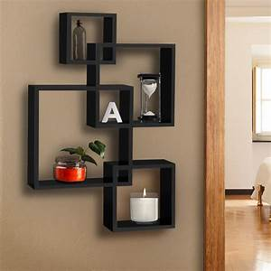 bcp intersecting squares floating shelf wall mounted home With home furniture and other items