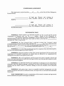 sample compromise agreement philippines social issues With sample offer and compromise letter