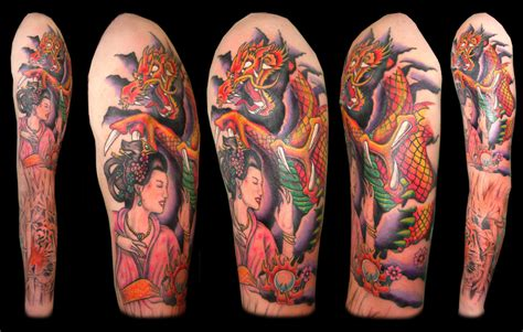 Upper Arm Sleeve Tattoo By Asussman On Deviantart