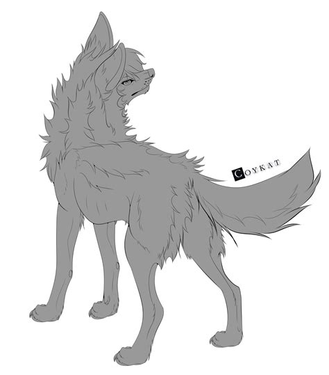 Free Wolf Base by Coykat on DeviantArt