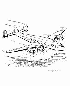 Airplane coloring sheets 004