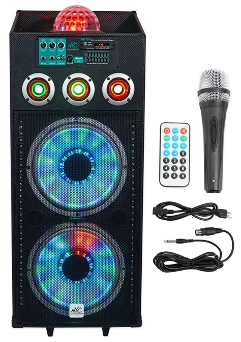 speakers with lights nyc acoustics n212a dual 12 quot 700w powered dj speaker
