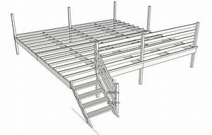 plan de terrasse en bois With plan terrasse en bois