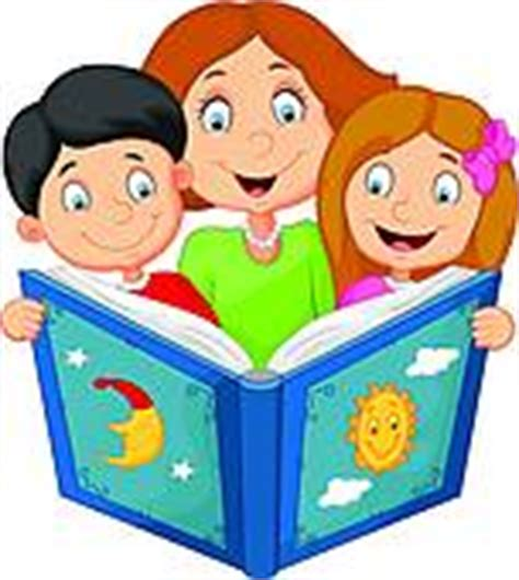 children reading together clipart clipart of vector reading a book to children