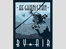 Come See Afghanistan AH64 Apache – Squadron Posters