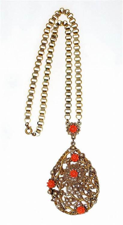 Necklace Pendant 1930 Circa Chain Jeweled Want