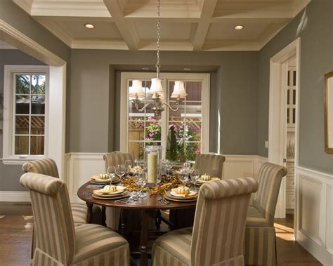 chair rail molding ideas Dining Room Contemporary with crown molding gold accents