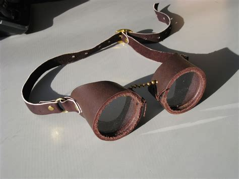 Custom Made Leather Steampunk Goggles By Lady Heather's