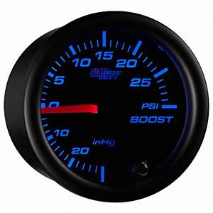 Glowshift Black 7 Color Turbo Boost    Vacuum Gauge