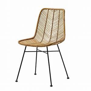 Chaise Rotin Metal : bloomingville chaise lena rotin naturel bloomingville ~ Teatrodelosmanantiales.com Idées de Décoration