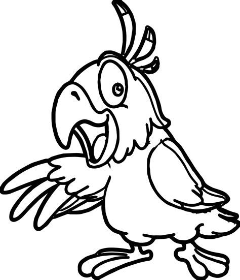 parrot coloring page parrot bird coloring pages wecoloringpage