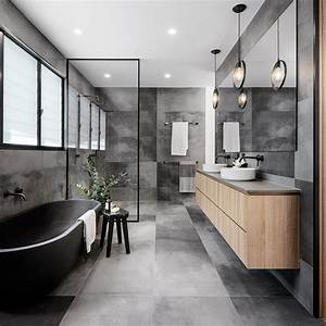 A, Cloudy, Grey, Tile, Sets, The, Palette, For, This, Bathroom