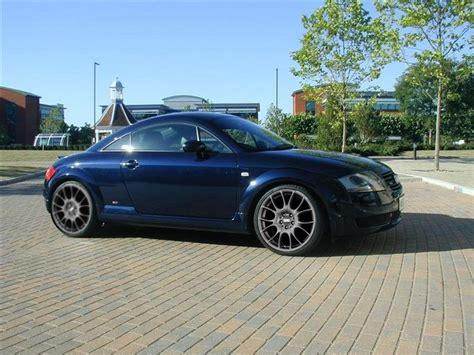 car navy blue audi tt  mat black alloy wheels