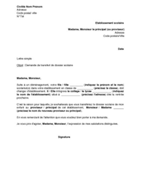 transfert de siege social modele lettre transfert de dossier document