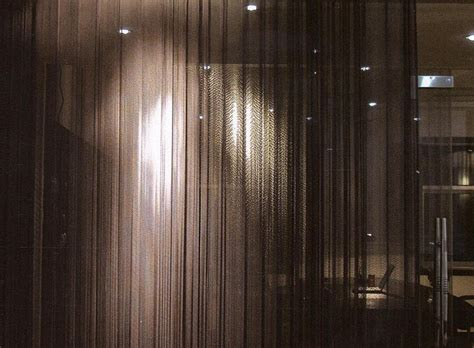 woven wire drapery and metal cloth curtains in