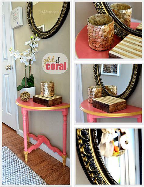 diy gold bedroom decor diy gold coral table