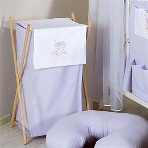 Panier à Linge Bébé : panier linge chambre b b violet ours nuage jurassien ~ Teatrodelosmanantiales.com Idées de Décoration