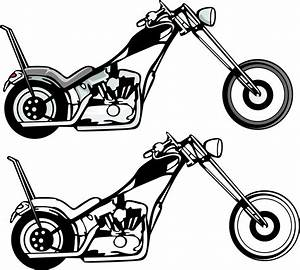 Vintage Motorcycle Clipart Black And White | Clipart Panda ...
