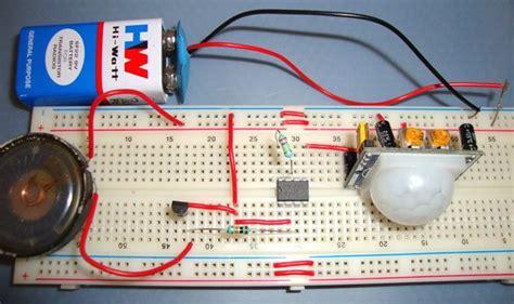 Burglar Alarm System Using Pir Sensor Electronic