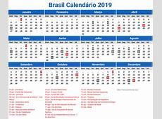 Calendário 2019 Brasil Para Imprimir newspicturesxyz