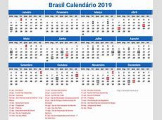 Calendario 2019 Do Brasil newspicturesxyz