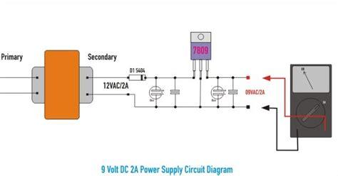 schematic  volt dc  power supply wiring diagram schematic