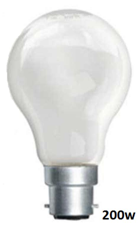 200 watt incandescent bc heater bulbs for multiplo or