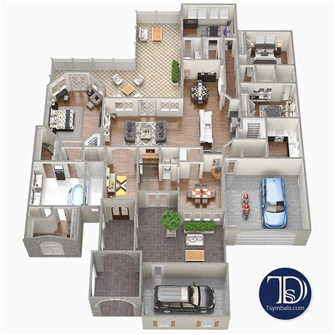 floor plans renderings visualizations tsymbals design