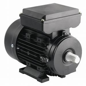 Tec - 230v Single Phase Motor 0 55kw  0 75hp  Cap Run 2p 71f Foot