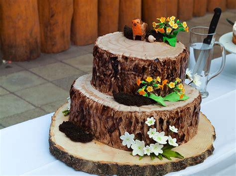 Kuchen Aus Holz by Baumstamm Torte Hochzeitstorte Tree Stump Wedding Cake
