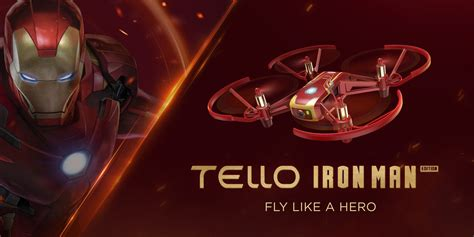 dji ryze introduces  tello iron man edition dronedj