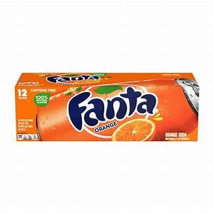 Fanta Caffeine Free Orange Soda 12 Oz Cans
