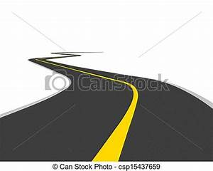 Stock Illustrations of Curved road over white csp15437659 ...