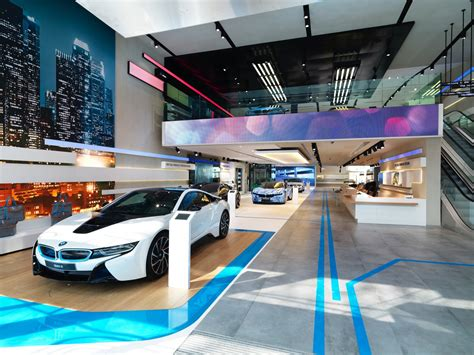 bmw dealership interior brussels bmw brand store earns 2014 iconic award for