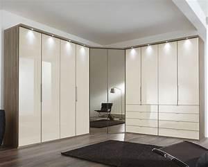 Kleiderschrank Mit Beleuchtung : eckkleiderschrank magnolie mit schubladen und spiegel tiko ~ Sanjose-hotels-ca.com Haus und Dekorationen