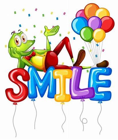 Word Smile Balloons Frog Vector Vecteezy Graphics