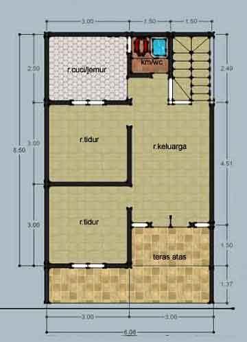 desain renovasi rumah type   lantai gambar