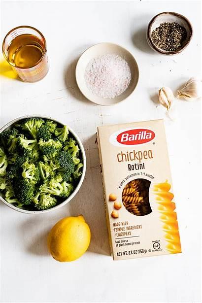 Broccoli Pepper Lemon Vegan Rotini Garlic Pasta