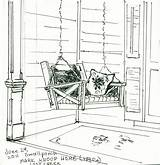 Porch Swing Clipart Painting Coloring Sketch Pages Plein Air Pauline Persing Writing Natural History Template Ready Porches Templates Hayley Down sketch template