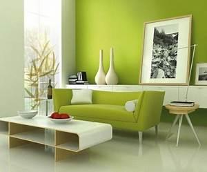Grüntöne Wandfarbe sorgen für eine frische und ruhige Zimmeratmosphäre