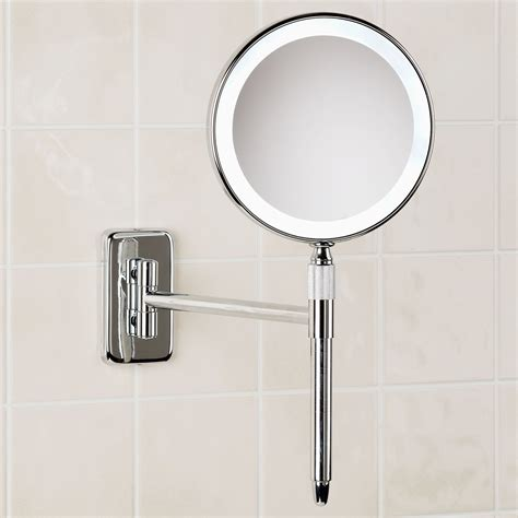 home decor wall mounted mirror with light undermount