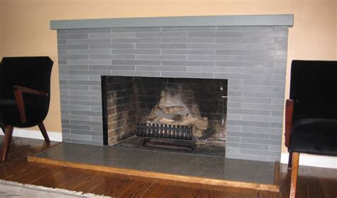 Sacks Tile Fireplace by 1950s Bathroom And Fireplace Updated To The Studs
