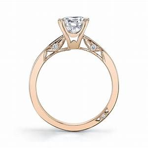 tacori 18k rose gold diamond engagement ring setting With tacori wedding rings rose gold