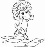 Hopscotch Coloring Bop Baby Pages Barney Jawar Playing Watson Uploaded Getcoloringpages Below sketch template