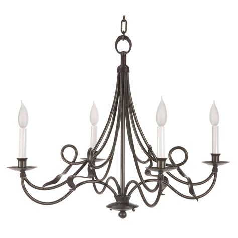 black color rustic cast iron chandeliers with candle